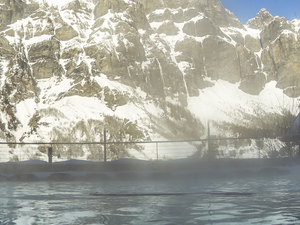 Leukerbad Alpentherme Gemmi Winter