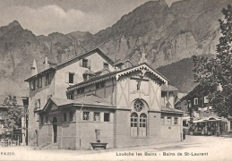Leukerbad Dorfplatz Gallerie St Laurent