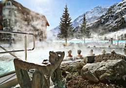 Leukerbad Therme Winter