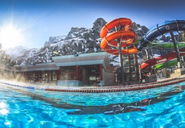 Leukerbad LeukerbadTherme Sportbecken Winter